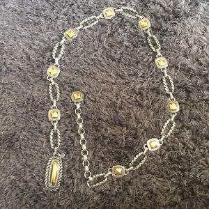 Brighton Silver and Brass Chain Belt